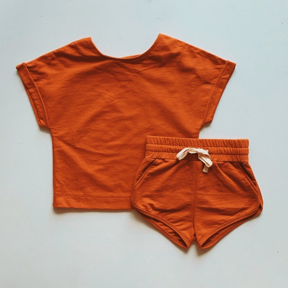 1. Pre - Order - Baby Terry Jogger Set - Hawaiian Sunset