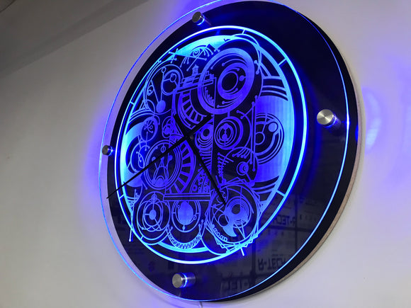 Dr. Who Inspired Tardis LED Clock Template