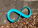 Infinity Wooden Name Sign