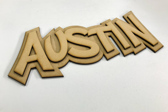 Custom Name Sign Kit - 2 Layer