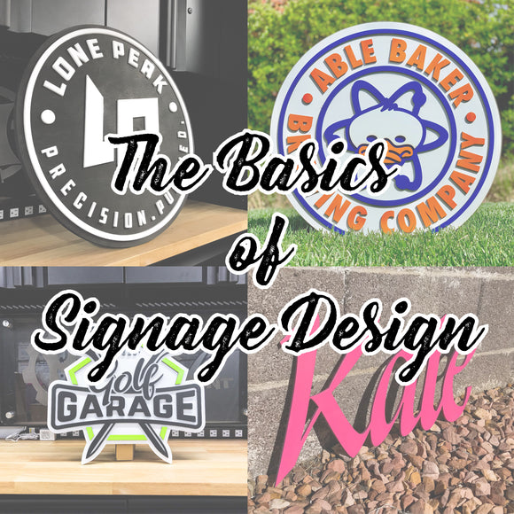 The Basics of Signage Design - Jan 23, 2021 @ 10am Pacific