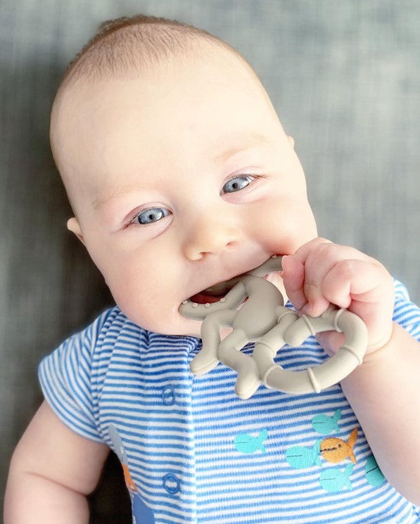 Instagram Baby Matchstick Monkey Grey Teether