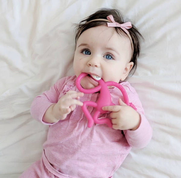 Instagram Baby Matchstick Monkey Pink Teether
