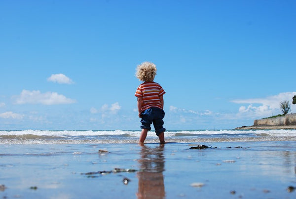 Toddler in the Sea on Holiday