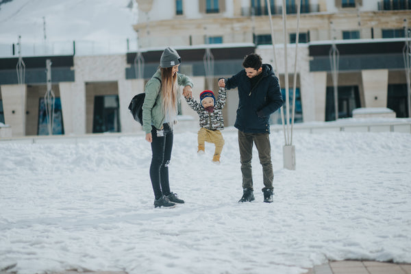 Family Fun in Winter Snow