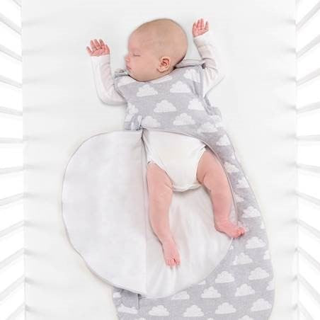 Baby in SnuzPouch Sleeping Bag