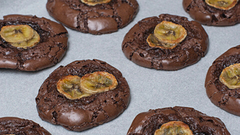 Flourless Banana Chocolate Cookies