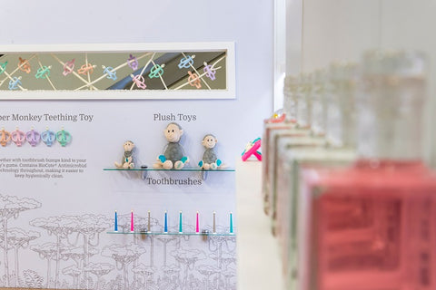 Matchstick Monkey Product at Kind & Jugend stand