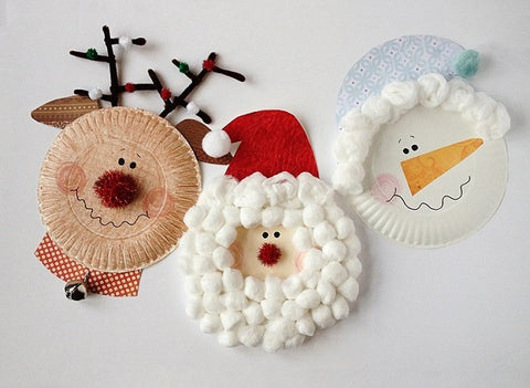 Paper Plate Christmas decoration for kids