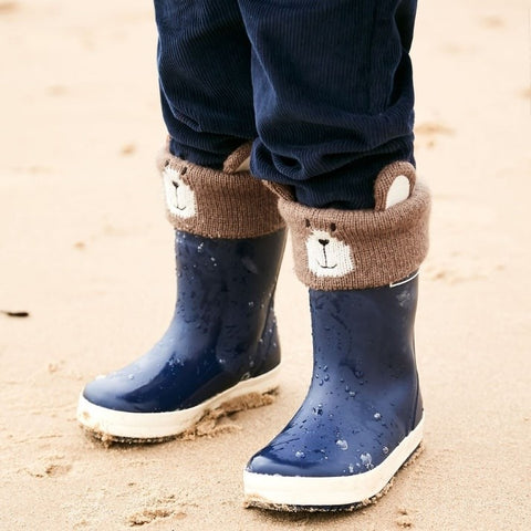 Teddy bear welly socks