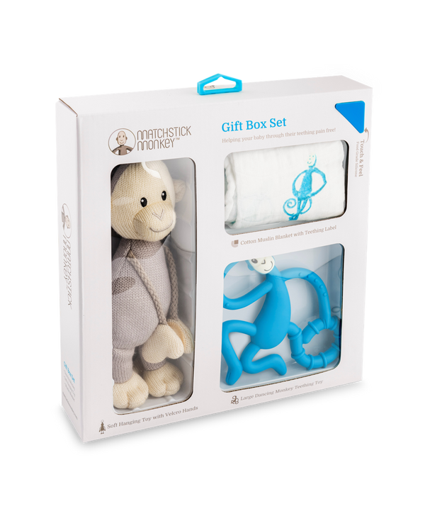 BLUE TEETHING GIFT SET