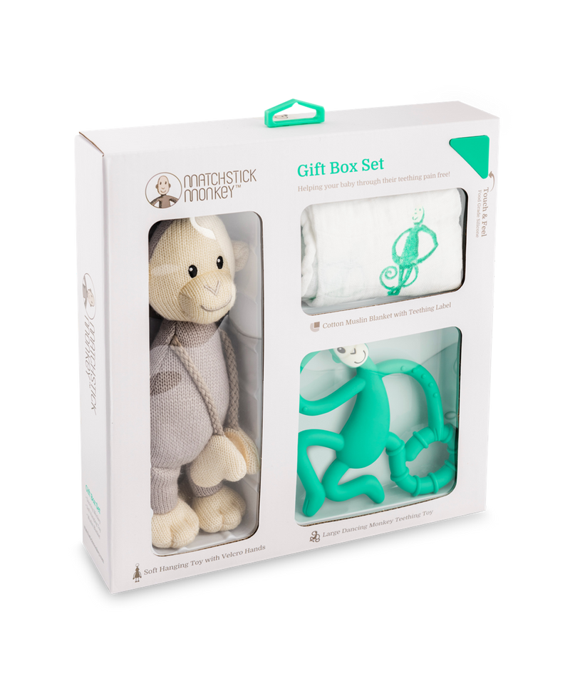 GREEN TEETHING GIFT SET