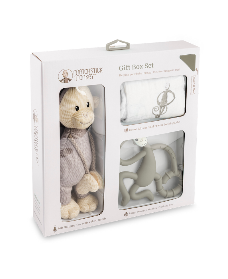 GREY TEETHING GIFT SET