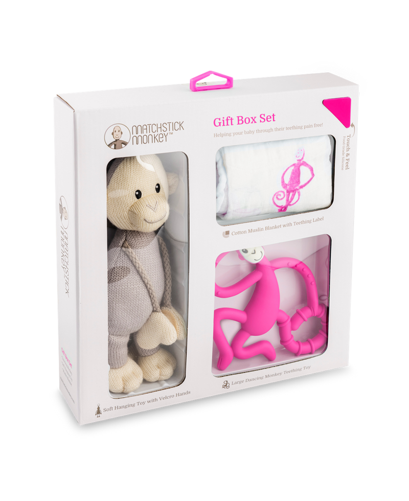 PINK TEETHING GIFT SET