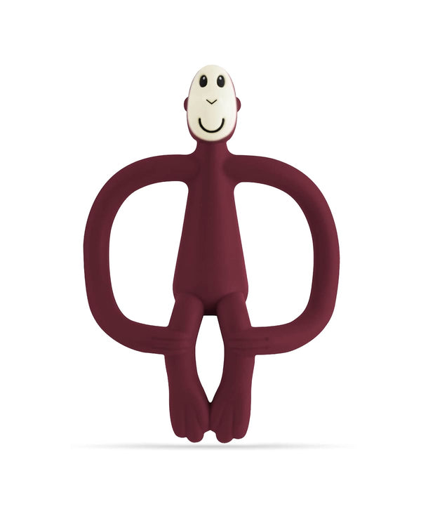 Maroon Monkey Teether - Front