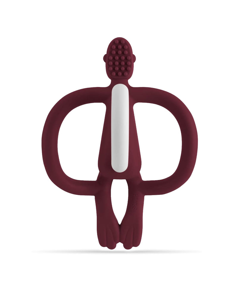 Maroon Monkey Teether - Back