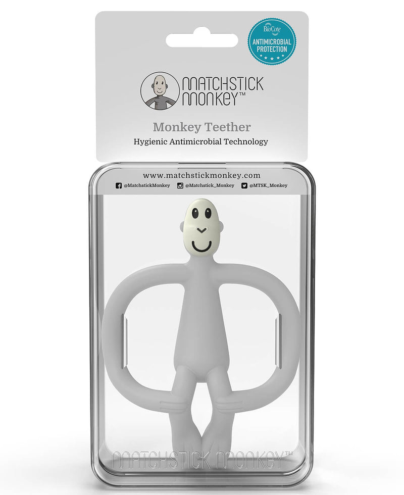 Grey Monkey Teether - Packaging