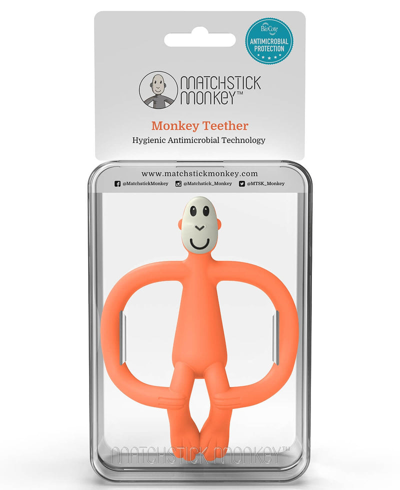 Orange Monkey Teether - Packaging