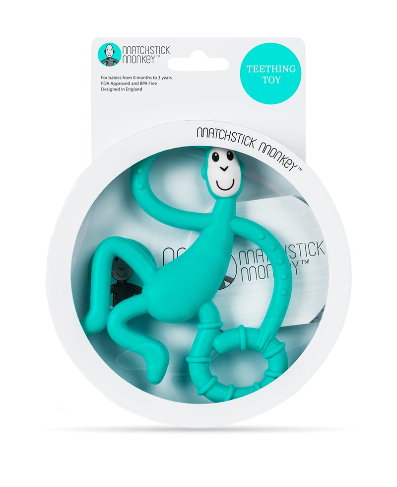 Green Dancing Monkey Teether - Packaging