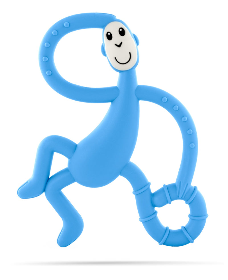 Light Blue Dancing Monkey Teether - Front