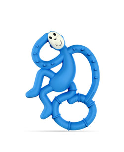 Blue Mini Monkey Teether - Front