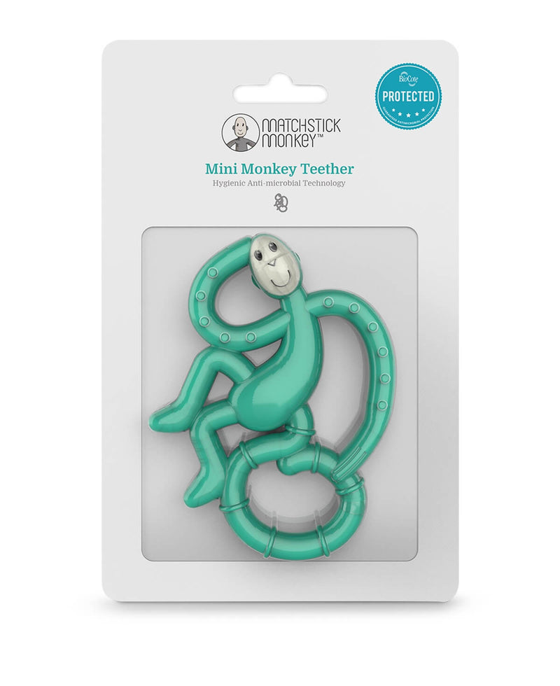 Green Mini Monkey Teether - Packaging