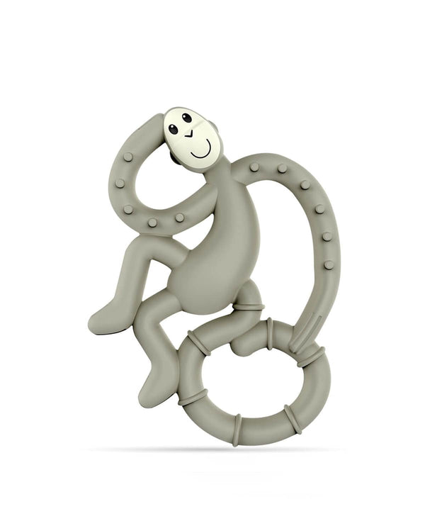 Grey Mini Monkey Teether - Front