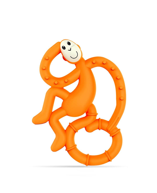 Orange Mini Monkey Teether - Front