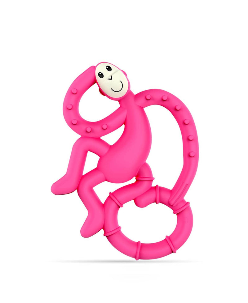 Pink Mini Monkey Teether - Front