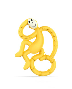 Yellow Mini Monkey Teether - Front