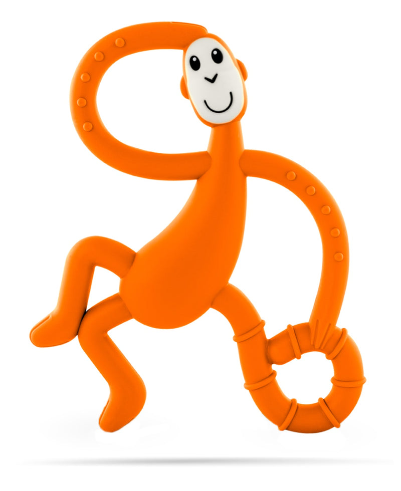 Orange Dancing Monkey Teether - Front