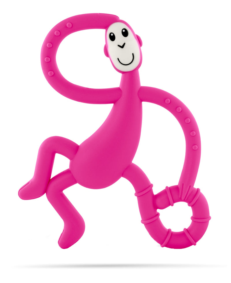 Pink Dancing Monkey Teether - Front