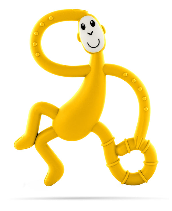 Yellow Dancing Monkey Teether - Front
