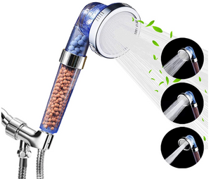 Filtered Ionic Shower Head With Purifying Stones