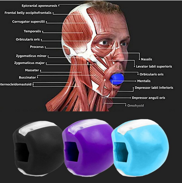 Silicone Jaw Trainer Facial Muscle Chewing Shape Device