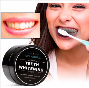 100% Organic Charcoal Natural Teeth Whitening Powder - Teeth Whitener