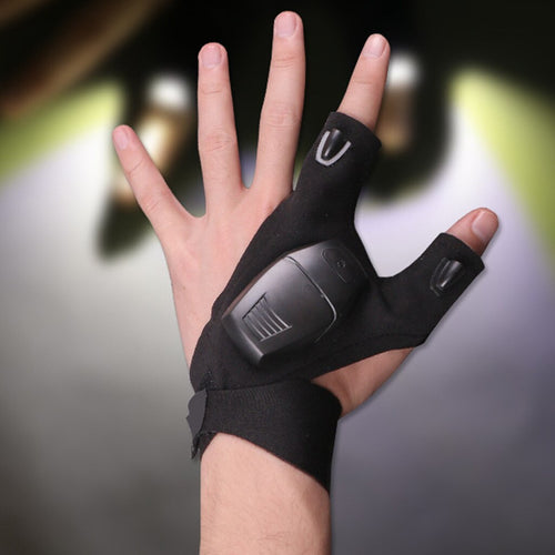 Fingerless Glove Flashlight