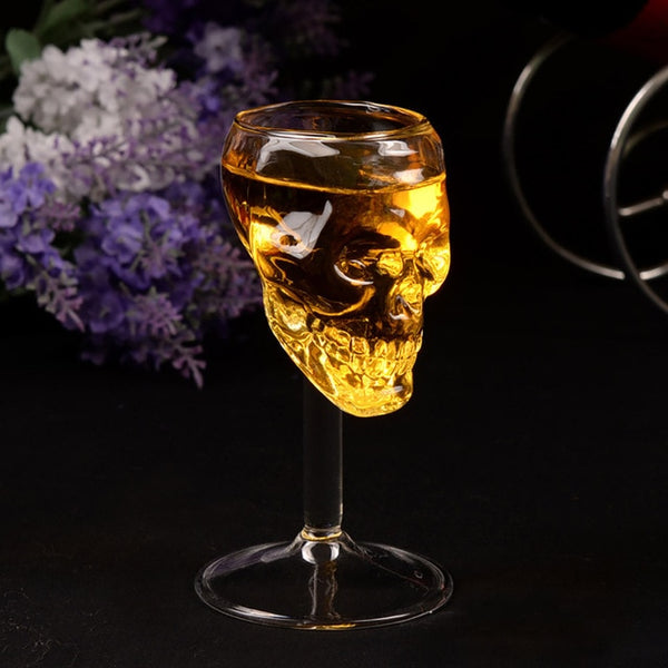 1pcs Wine Glass Beer Wine Cup Bottle Glass Skull Red Wine Tumbler Glasses Cups Reusable Transparent Fruit Juice Beer Cup 923