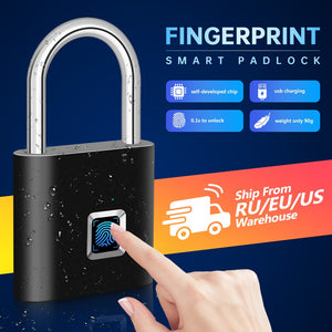 USB Charging Fingerprint Smart Padlock