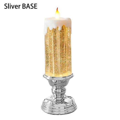 Rechargeable Candles Light Christmas Candles Lamp LED Romantic Creative Votive Flameless With Glitter Color Changing Waterproof