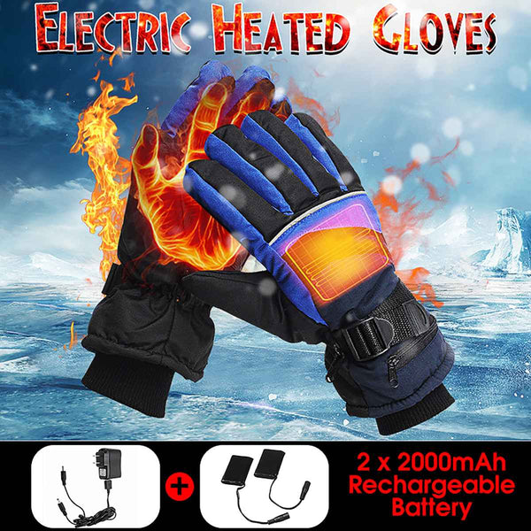 Electric Heated Gloves Winter Thermal USB Hand Warmer Touch Screen Winter Warmer Waterproof For Motorcycle Skiing Gloves
