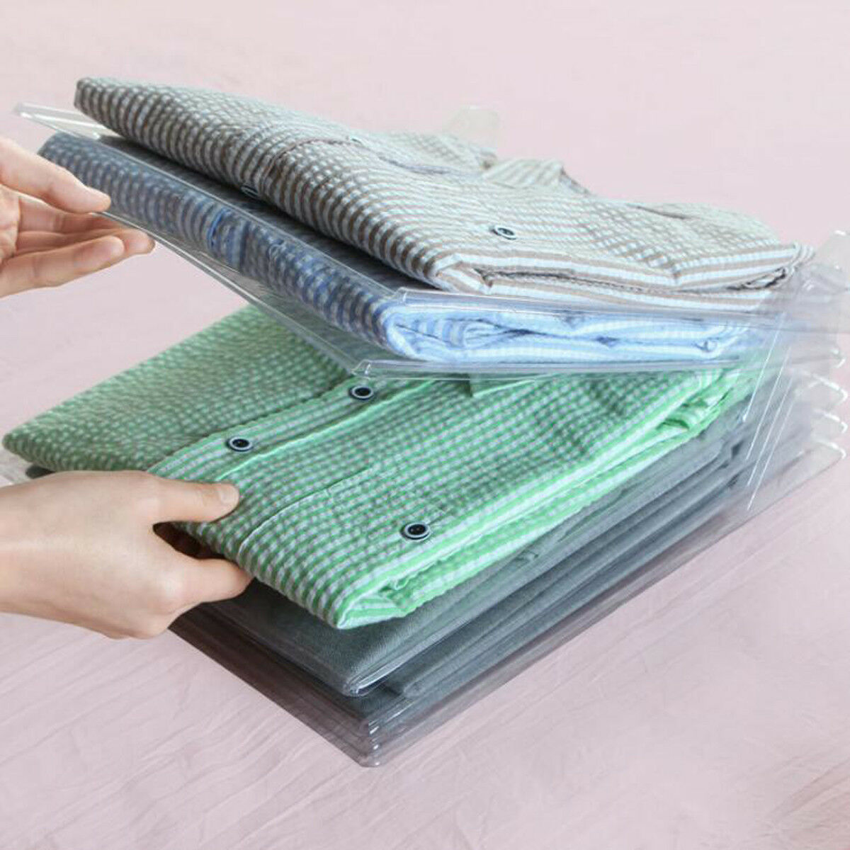 10Pcs T-Shirt Clothes Organizer Folder Magic Fast Laundry Folding Board US
