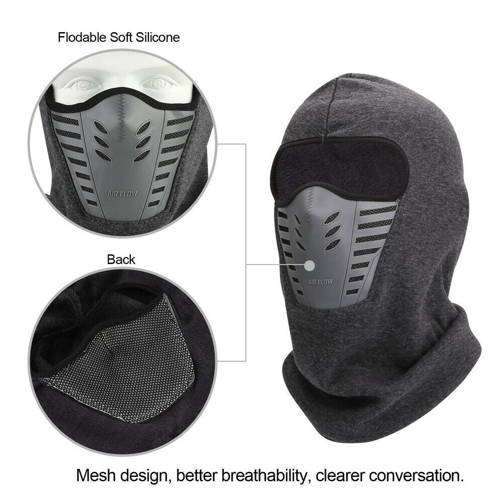 2-Pack Face Mask Winter Warm Hat