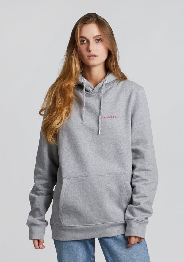 Elbe Hoodie heather grey-Hafendieb