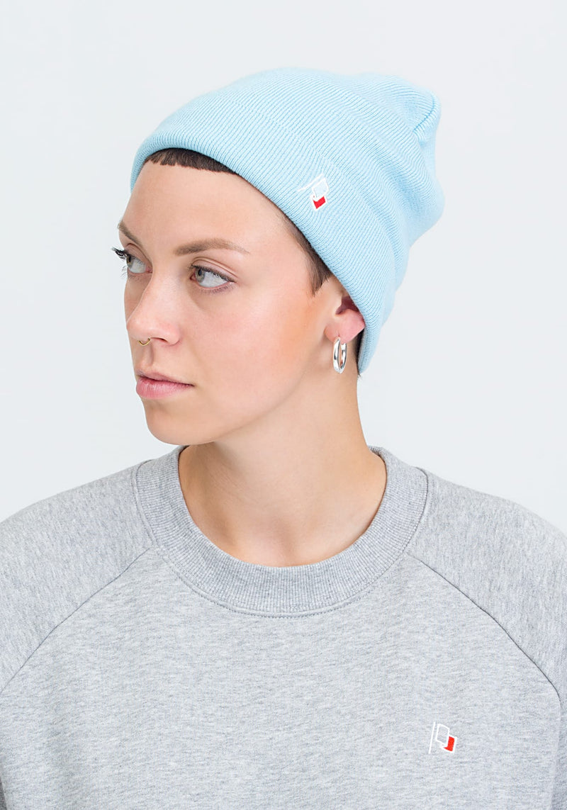 Flagge Beanie light blue - Hafendieb
