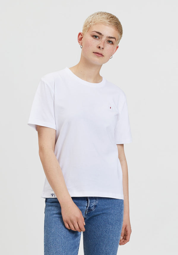 Flagge Stick T-Shirt white