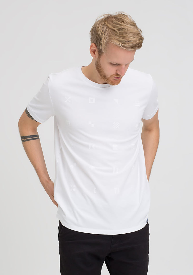 Flaggen Alphabet T-Shirt white