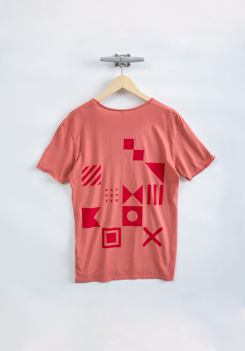 Flaggen Pattern T-Shirt red - Hafendieb
