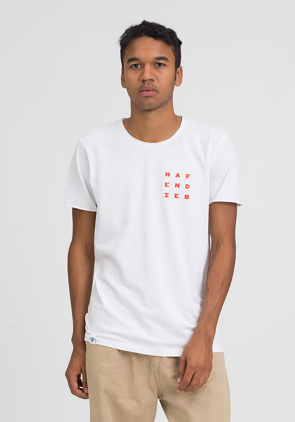 Flaggen Pattern T-Shirt white - Hafendieb