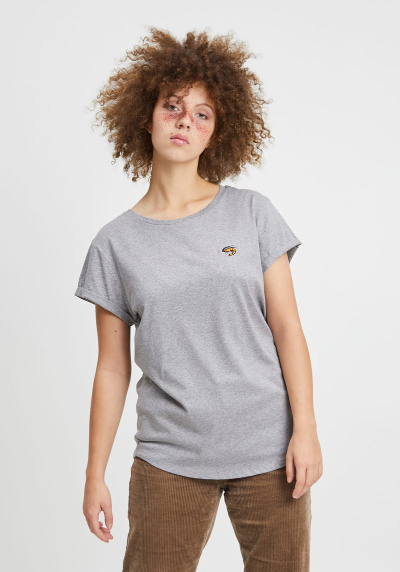 Granaat T-Shirt heather grey - Hafendieb